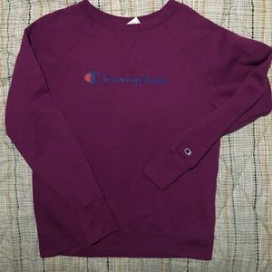 Champion Spell-Out Logo Crewneck Sweatshirt